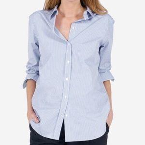 Everlane striped poplin relaxed fit shirt EUC